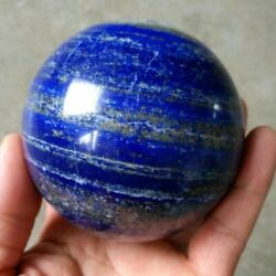 40mm Natural Blue Lapis Lazuli Crystal Ball Healing Stone Gemstone Sphere+Stand