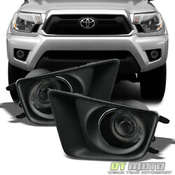 For 12-15 Toyota Tacoma Pickup Smoked LED Halo Projector Fog Lights Lamps+Switch