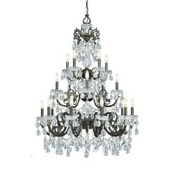 Crystorama Legacy Ornate Chandelier Crystal Elements Crystal 5190-EB-CL-S