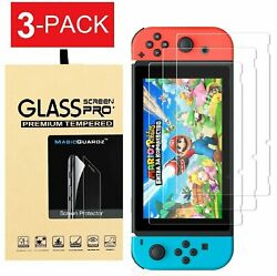 For Nintendo Switch Premium Tempered Glass Screen Protector 3 Pack $6.95