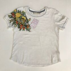 Free People In The Wild Embroidered Cotton T Shirt Sz S Sz XS $37.00