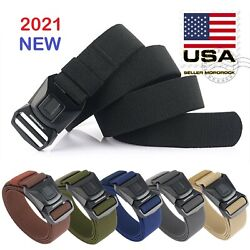 Quick Release Buckle Survival Army Military Belt Strap Tactical Rigger Waistband $13.98