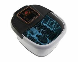All-In-One Foot Spa Bath Massager wTemp Time Set Heat LED Display Rollers Large