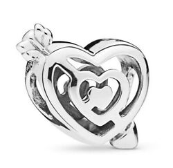 925 Sterling Silver Path to Love Charm Fit European Charm Bracelet