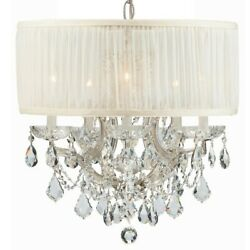 Crystorama Brentwood Maria Theresa Chandelier Crystal Elements 4415-CH-SAW-CLS $2,019.99