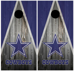 Dallas Cowboys Wood Cornhole Board Wraps Skins Vinyl Laminated HIGH QUALITY!