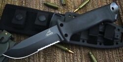 Gerber LMF II Infantry Survival Fixed Blade Partially Serrated Knife BLACK  NEW