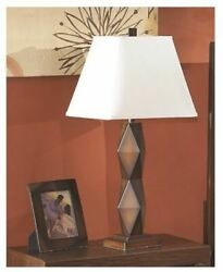 Natane Contemporary Table Lamp in Dark Wood Finish Pack of 2 $169.08