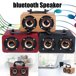 Portable Wooden Wireless bluetooth Speaker Super Bass Stereo Subwoofer HIFI