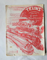 Sheet Music TRAINS Characteristic Novelty for Piano Carl Fischer $3.95