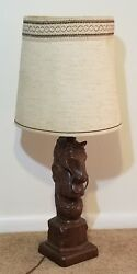 Vintage Horse Knight Lamp Large Holland Mold $99.99