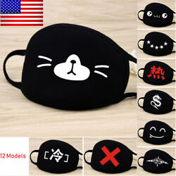 Mouth Mask Unisex Cartoon Anime Cute Shape Cool Anti-Dust Windproof Face Mask US
