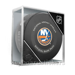 2019-20 New York Islanders Official NHL Hockey Game Puck wCube