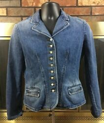 Vintage Ralph Lauren Jeans Co. French Denim Military Jean Cropped Jacket Size M