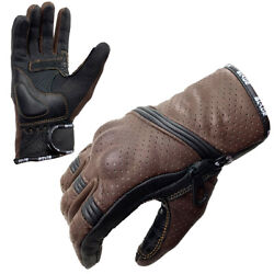 Blade® Best Summer Motorcycle Motorbike Gloves Leather Knuckle Protection GBP 15.99