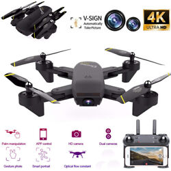 Mini Drone Selfie WIFI FPV Dual HD Camera Foldable Arm RC Quadcopter Toy US New $57.47