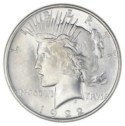 1 BU $1 1922 Peace Silver Dollars Dripping with luster Unc MS 90% Bulk amp; Save $35.95