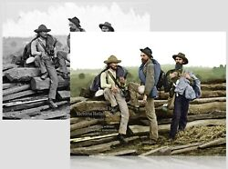 Colorized Civil War Photo Poster: Confederate Prisoners at Gettysburg - 6 Sizes! $7.99