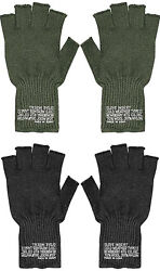 Fingerless Wool Gloves US Made Knit Ragg GI Tactical Military Army Outdoor Warm $10.99
