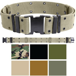 Military Pistol Belt Nylon Tactical Web Utility Duty ALICE Marine Corps GI Type $12.99