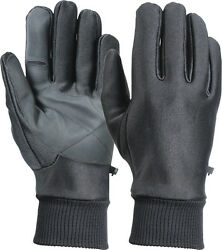 Black Soft Shell Stretchy Waterproof Gloves with Fleece Lining $16.99