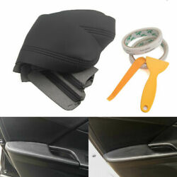 PU Leather Car Door Armrest Cover Surface Shell Trim For Honda Accord 9th 13-17