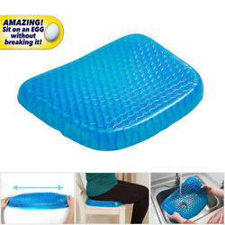 Egg Sitting Gel Flexible Cushion Seat Sitter Breathable Car Self Cooling Seat US