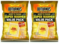 20 HotHands Body & Hand Super Warmers Value Pack 18 Hours Of Heat Each