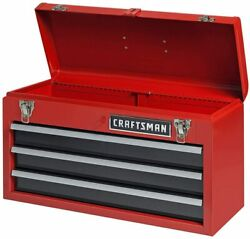 CRAFTSMAN Portable Tool Box 20.5 in Ball bearing 3 Drawer Red Steel Lockable $92.99