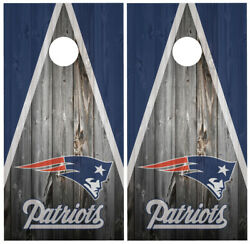 New England Patriots 2 Cornhole Board Wraps Skins Vinyl Laminated HIGH QUALITY!