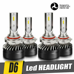 9005 9006 6000K 12000LM Combo 2-Side CSP LED Headlight Kits High Low Lamps Bulbs