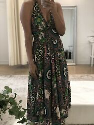 Women#x27;s Floral Summer Midi Dress in Size Small $9.99