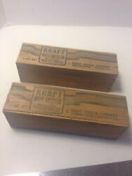 Antique Kraft Wooden 2 lb. Cheese Box  Both Sides read: Kraft Cheese Co.