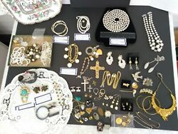 VTG TO ANTIQUE ESTATE JUNK DRAWER JEWELRY LOT MIXED LOT ODD LOT AS-IS NO RETURNS