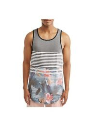 George Men's Fashion Tank Top Stripes Colored Island Floral - Multiple Sizes