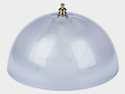 Westinghouse LAMP SHADE 8quot; Clip On White Acrylic Prismatic Dome 1 pk 4quot; H 81493 $15.89