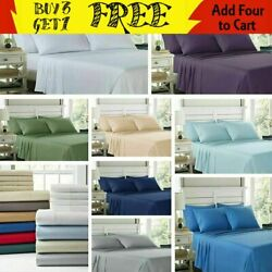 EGYPTIAN COMFORT 2100 COUNT 6 PIECE BED SHEET SET DEEP POCKET ALL SIZECOLOR