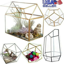 Antique Glass Geometric House Terrarium Succulent Plant Wedding Home Decor USA