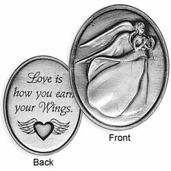 Angel Pewter Pocket Coin Token Guardian Hope Faith Christian Prayer Angelstar  $1.99