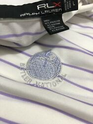 RLX Ralph Lauren Butler National Men Golf Polo Shirt Stretch Purple Large L