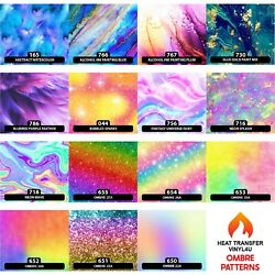 Ombre Watercolor Pattern Vinyl for HTV Heat Transfer Iron On 18quot; X 12quot; A $9.99