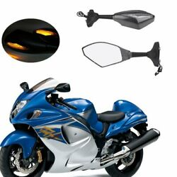 LED Turn Signal Integrated Rear View Mirrors For Honda CBR 600 F4i 2001-2007 04