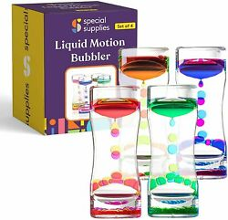 Special Supplies Liquid Motion Bubbler Toy (4-Pack) Colorful Hourglass Timer... $19.99