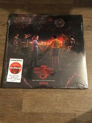 Stranger Things Season 3 Vinyl Soundtrack Red White Blue + 7 in Record *Limited*