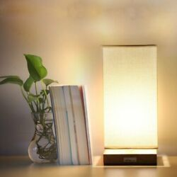 Modern Cuboid Desk Lamp Beside Nightstand Table Night Light Bedroom Office Gift