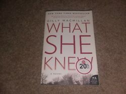 WHAT SHE KNEW BY GILLY MACMILLAN  PAPERBACK LIKE NEW  ISBN: 978-0-06-241386-4