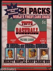 1952 Unopened Card Chase Box-21 Pack + Auto + 2 Cards From The 195060's