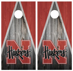 Nebraska Huskers Cornhole Board Wraps Skins Vinyl Laminated HIGH QUALITY!