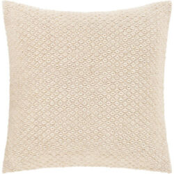 Surya LIF002-2020 Leif 20 X 20 inch Cream and White Pillow Cover