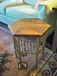 Vintage Victorian Stick & Ball Plant Stand ~ Accent Table Antique Arts & Crafts